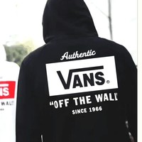 Vans off the wall Stylish Casual Winter Unisex Black & White Hoodies [11560007564]