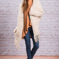 Live Your Life Cardigan, Ivory