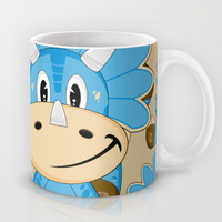 Cartoon Triceratops Dinosaur Mug by markmurphycreative