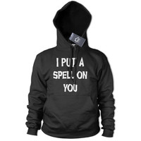 I Put a Spell on You Hoodie Spooky Witch Outfit Halloween Hoody Fancy Dress 341