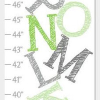 Alphabet Growth Chart - Green