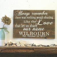 Always Remember There Was Nothing Worth Sharing Pallet Sign Avett Brothers Wedding Gift Anniversary Custom Name Sign Rustic Wood Sign