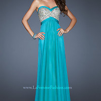 Long Strapless Gown by La Femme