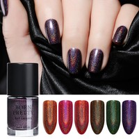 BORN PRETTY 9 ml Holographic Nail Polish Rainbow Holo Nail Polish Manicure Lacquer Shinning Polish Nail Art Polish