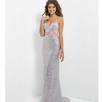 Blush 2014 Prom Dresses - Crystal & Pink Strapless Sequin Prom Gown