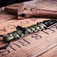 Bomber Carabiner Paracord Keychain