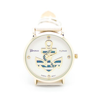 Anchor stripes watch