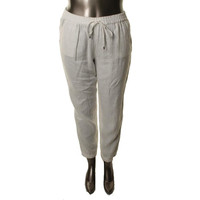 MICHAEL Michael Kors Womens Linen Drawstring Casual Pants