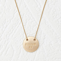 Engraved Statement Matte Necklace