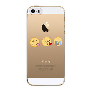 Luxury Cartoon Smiley Face Facebook Emoji Emoticons Painted Soft TPU Clear Silicon Back Case Cover For Apple iPhone 5 5s SE