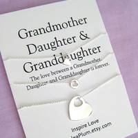 Birthday gifts for mother | 60th BIRTHDAY ideas for mom | Sterling Silver, 60th Birthday Present, Mother Daughter Set, Birthday Gift for her