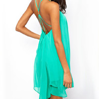 Strappy Backless Mini Dress
