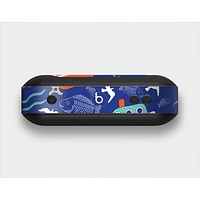 The Blue Vector Fish and Boat Pattern Skin Set for the Beats Pill Plus