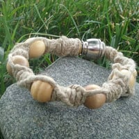 Natural Boho Hippie Hemp Braided Macrame Bracelet Sneak A Toke Secret Smoker COLOR BOWL OPTIONS Tobacco Pipe