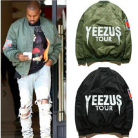 Men's Kanye West Yeezus Tour MA1 Flight Pilot Bomber Jacket