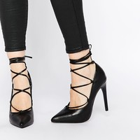 New Look Ghillie Pointed High Heeled Shoe