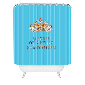 Bianca Green Her Daily Motivation Blue Shower Curtain