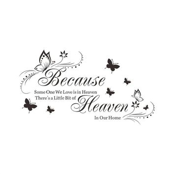 Wedding Decorations Because Someone We Love Is In Heaven Sign Gold Foil Print Home Decor Memorial