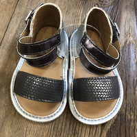Silver baby sandals size 2