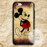 Classic Mickey Mouse Disney iPhone 4/4S, 5/5S, 5C Series, Samsung Galaxy S3, Samsung Galaxy S4, Samsung Galaxy S5 - Hard Plastic, Rubber Case