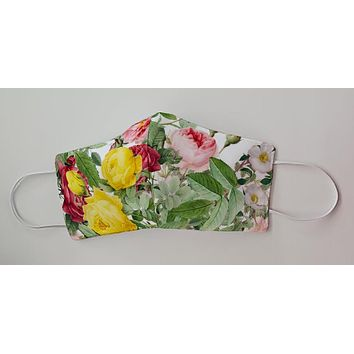 Floral Flowers and Roses Decorative Face Mask