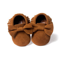 Kids Baby Anti-slip Moccasin Sneakers Girls Boys Soft Sole Crib Shoes Prewalker 0-18M