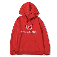Balenciaga fashion casual hoodies are hot sellers with printed hoodies Red