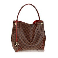 Louis Vuitton Damier Canvas Ca?ssa Hobo Handbag Cherry Article:N41555