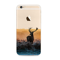 Reindeer Deer Nature iPhone 6s 6 Plus SE 5s 5 Soft Clear Case