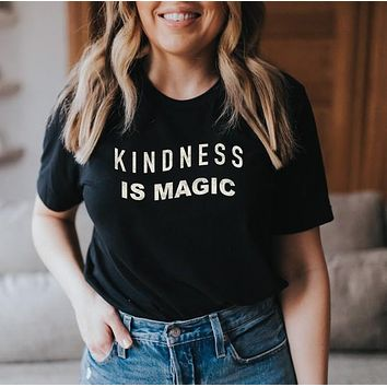 Kindness Is Magic Graphic Tee - Black