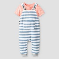 Baby Boys' 2pc Bodysuit and Overall Set - Baby Cat & Jack™ Pink : Target