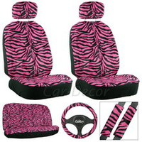 Zebra Hot Pink Seat Cover 11 Pc Set