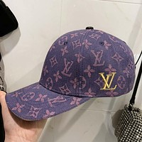 LV New fashion monogram embroidery letter print canvas cap hat