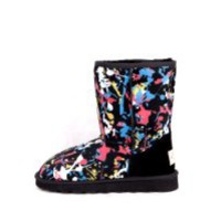 Treasure Time Twin-faced Authentic Sheepskin Multi-color Snow Boots