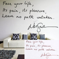 Personalized Handwriting Vinyl Wall Decal Quote / Memorial Signature Art Decor Removable Sticker / DIY Mural Text + Free Random Decal Gift