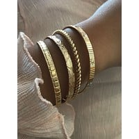 4pcs Round Ball Cuff Bangle