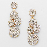 Rhinestone Bubble Drop Earrings