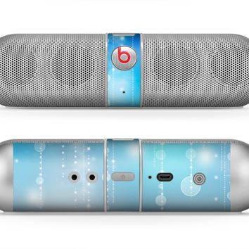 The Translucent Blue & White Jewels Skin for the Beats by Dre Pill Bluetooth Speaker