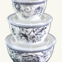 NOCTURNE LEFTOVER CONTAINERS - Bone China Food Storage