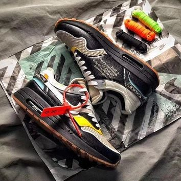 THE 10 : OFF WHITE x Nike Air Max 1 BespokeIND Black White Grey Sport Running Shoes