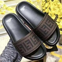 Fendi New Fashion More Letter Flip Flop Slippers Shoes