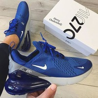 Nike Air Max 270 New fashion sports leisure shoes Blue