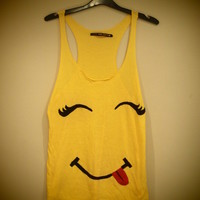 COSMIC RAY clothing — 'SMILEY' Yellow Vest Top
