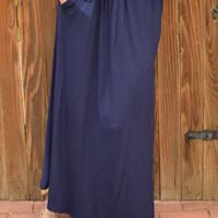Park View Maxi Skirt Navy