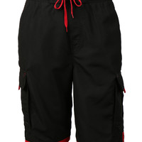 LE3NO Mens Boardshort Swim Trunk with Pocket (CLEARANCE)