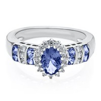 Tanzanite & Lab-Created White Sapphire Ring in Sterling Silver - Rings - Jewelry - Categories - Helzberg Diamonds
