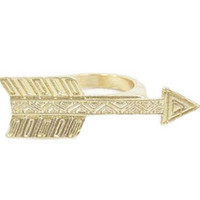 Etched Arrow Ring