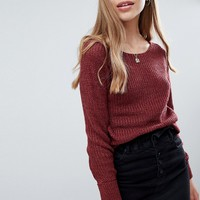 Brave Soul Milk Sweater with Turn Back Cuffs at asos.com