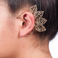 Angel Wing Leaf Ear Cuff
