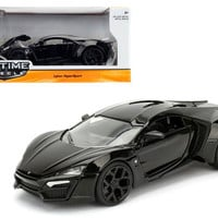 Lykan Hypersport Glossy Black 1-24 Diecast Model Cars by Jada